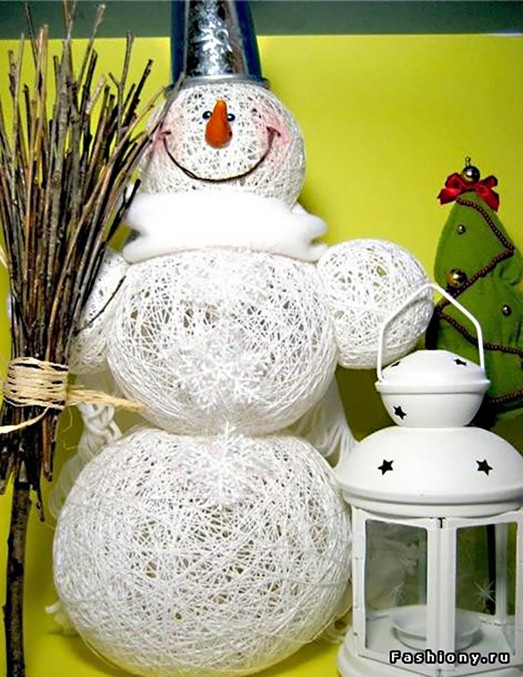 Balloon Snowman Balloon Craft Project