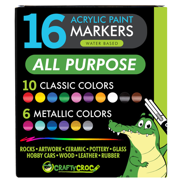 Acrylic Paint Markers - Perfect for Rock Painting