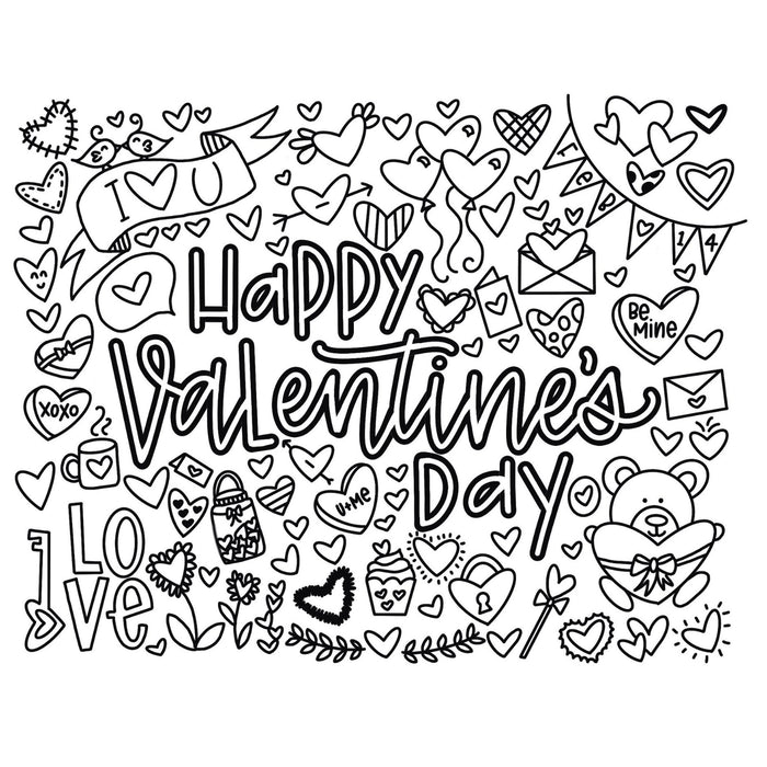 CYC-810-D06 Valentine's Day Printable Practice Sheet