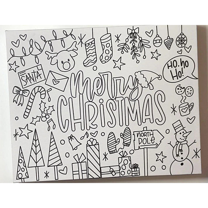 Christmas Coloring Canvas (8x10)