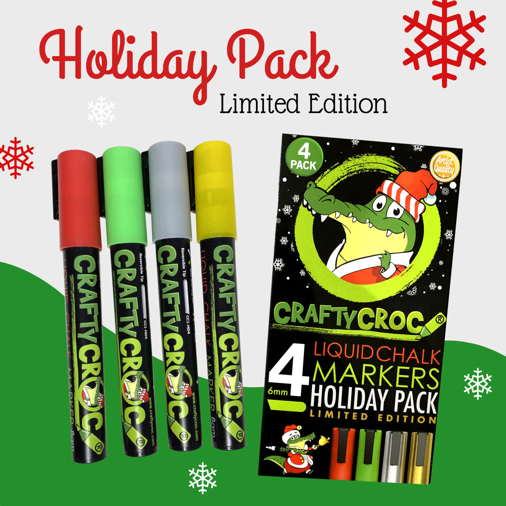 Holiday 4 Pack - Limited Edition Chalk Markers