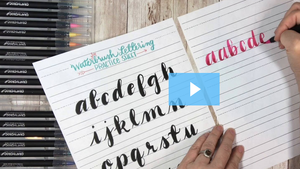 Bundle: Watercolor Brush Pens AND Lettering Basics Course