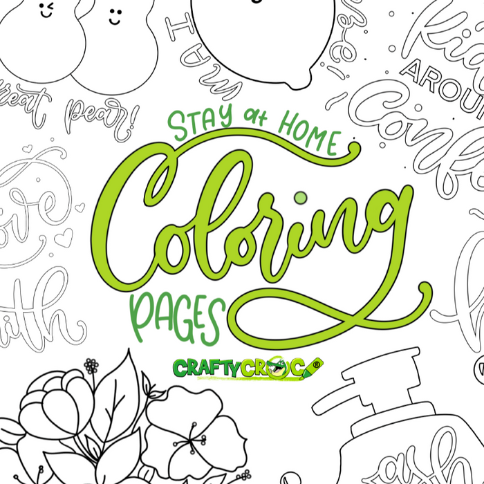 Stay At Home Coloring Pages