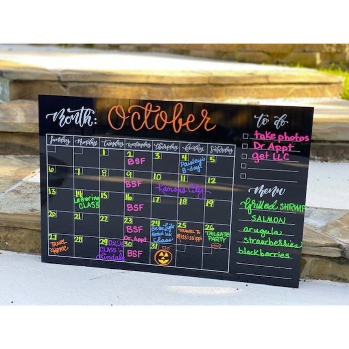 Acrylic Wall Calendar w/ Menu and Todo List (20x30)