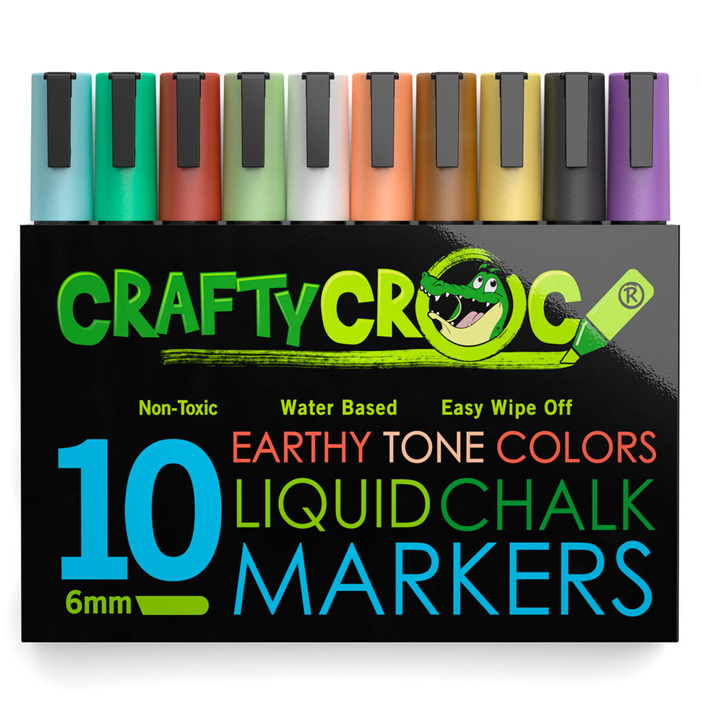Liquid Chalk Markers – 10 Earth Colors