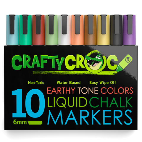 Image of Liquid Chalk Markers – 10 Earth Colors