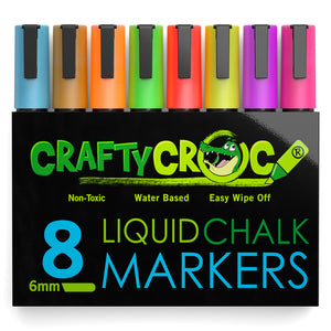 Liquid Chalk Markers – 8 Neon Colors