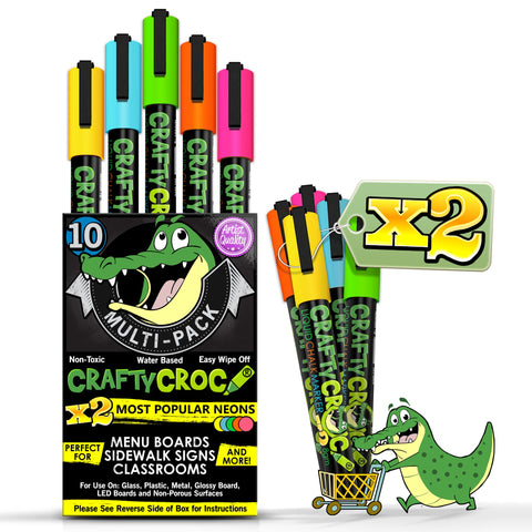 Image of Liquid Chalk Markers - 10 Double Neon Multi-Pack