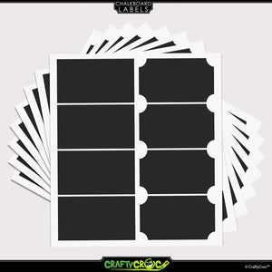 Chalkboard Labels – 64 Rectangle