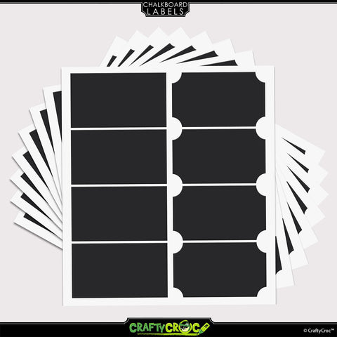 Image of Chalkboard Labels – 64 Rectangle