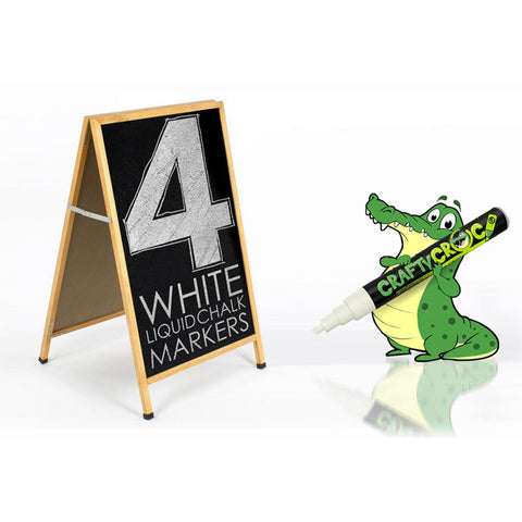 Liquid Chalk Markers – 4 White