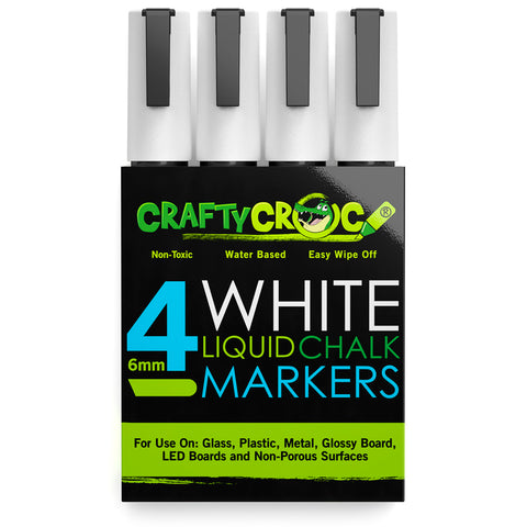 Image of Liquid Chalk Markers – 4 White
