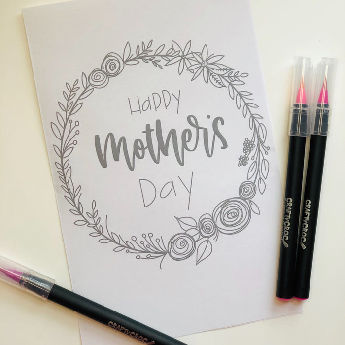 Mother's Day Card - Printable for Coloring