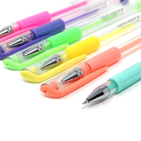 Image of Premium Gel Pens - 96 Coloring Pens with Carrying Case
