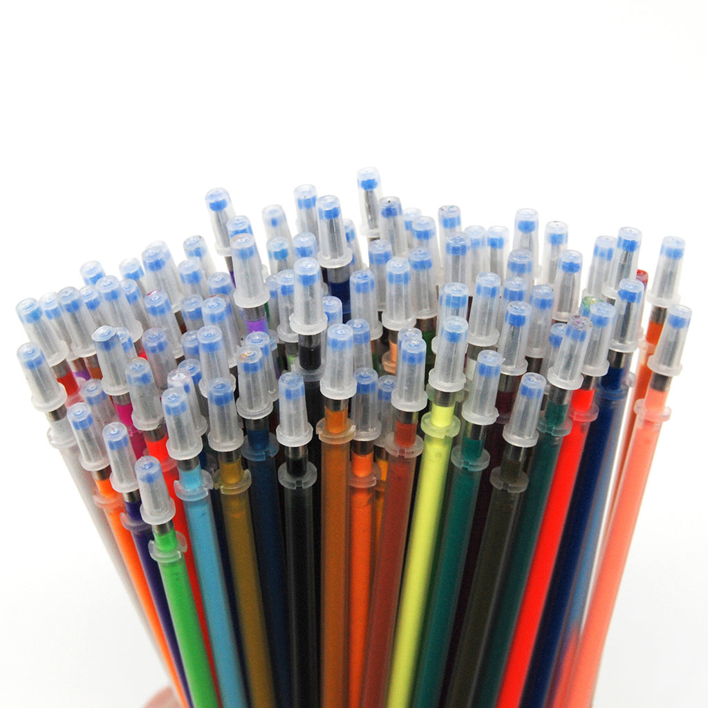 Gel Pen Refills - Set of 96 (All Premium Colors Included)