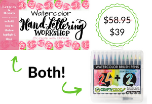 Pinners Exclusive Bundle: Brush Pens AND Hand Lettering Illustration Course