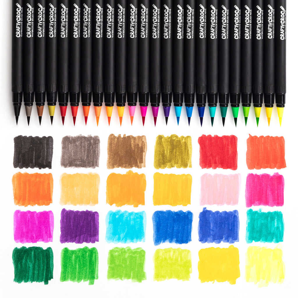 Watercolor Brush Pens - 24 Colors plus 2 Blending Brushes