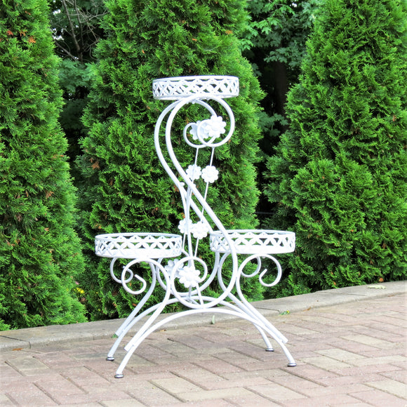 S-Shaped 3 Basket Plant Stand