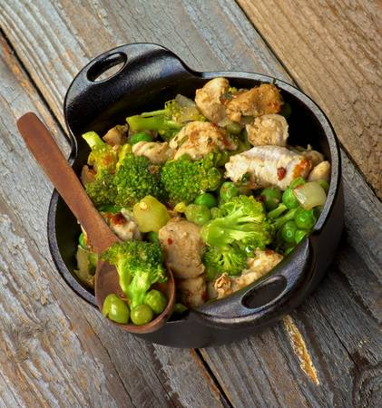 450gr combinato LOW CARB Pollo Broccoli e Piselli