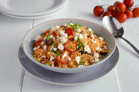 Cous cous con feta greca light