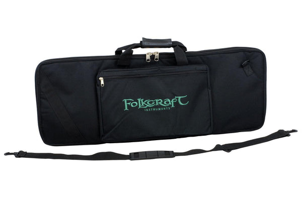 Bowed Psaltery Carrying Case, Black Nylon, Embroidered With Folkcraft® Logo-Folkcraft Instruments Dulcimer Case Bag