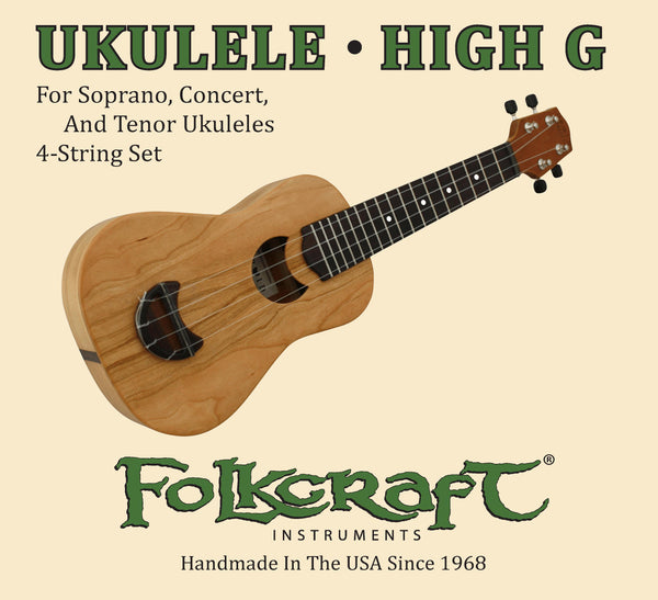 "Druid Moon® Ukulele String Set (.025"" .032"" .036"" .028"")-Folkcraft Instruments"