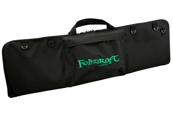 "Dulcimer Carrying Case, Embroidered With ""Folkcraft® Instruments"" Logo-Folkcraft Instruments Dulcimer Case Bag"