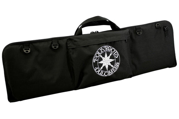 "Dulcimer Carrying Case, Embroidered With ""FolkRoots® Dulcimers"" Logo-Folkcraft Instruments Dulcimer Case Bag"