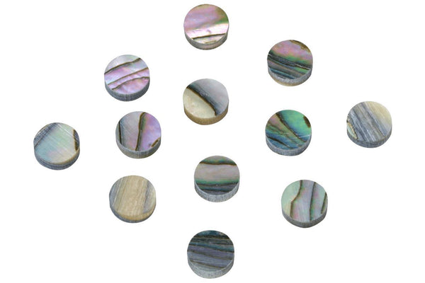 Folkcraft® Abalone Shell Position Dots, 6 Millimeter, Pack Of Twelve-Folkcraft Instruments