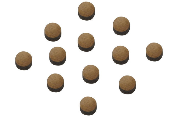"Folkcraft® Black Walnut Position Dots, 1/4"" Diameter, Pack Of Twelve-Folkcraft Instruments"