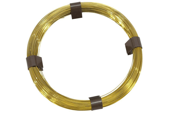 Folkcraft® Brass Music Wire, 50 Feet Of .027 (#11)-Folkcraft Instruments