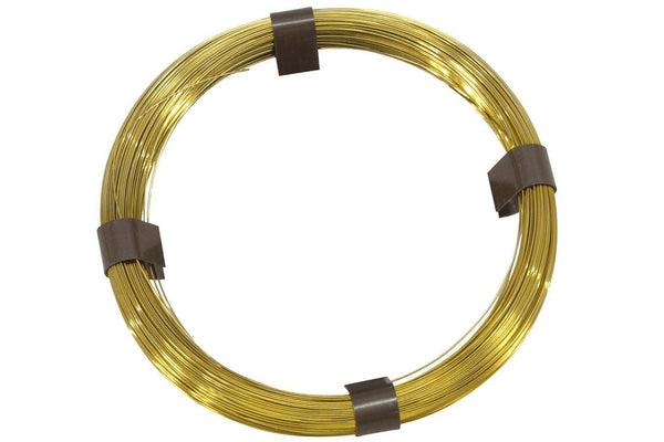 Folkcraft® Brass Music Wire, 50 Feet Of .030 (#12)-Folkcraft Instruments