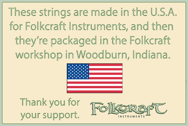Folkcraft® Bronze Wound Strings, Ball Ends, Pack Of Twelve, .024-Folkcraft Instruments