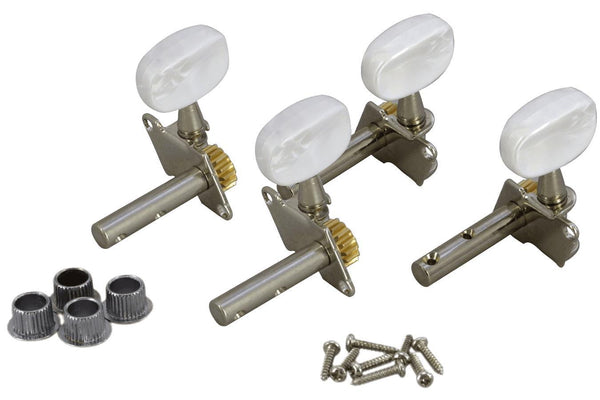 Folkcraft® Machine Heads, Open Gear, Pearloid Button, Four Pack-Folkcraft Instruments