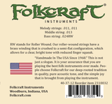 "Folkcraft® Mountain Dulcimer String Set, Loop Ends (.011"" .011"" .013"" .024""RW)-Folkcraft Instruments"