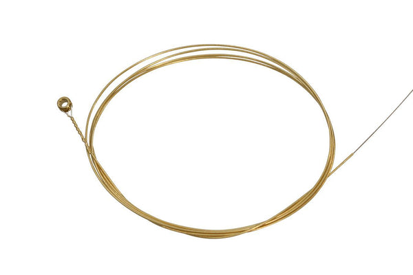 Folkcraft® Roller-Wound Brass Wound String, Ball End, .026-Folkcraft Instruments