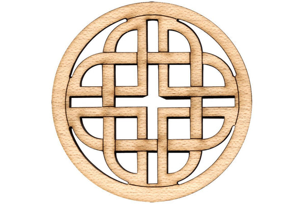 "Folkcraft® Rosette, Modern Celtic Shield, Maple, 1 1/2"" Diameter-Folkcraft Instruments"