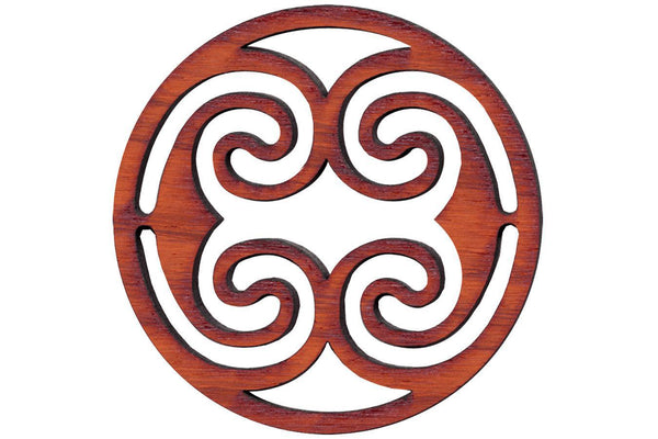 "Folkcraft® Rosette, Ocean Waves, Padauk, 1 1/2"" Diameter-Folkcraft Instruments"
