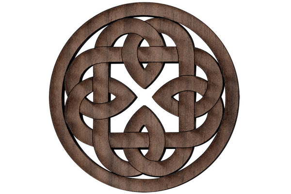 "Folkcraft® Rosette, Shield Cross Chain, Walnut, 2 3/16"" Diameter-Folkcraft Instruments"