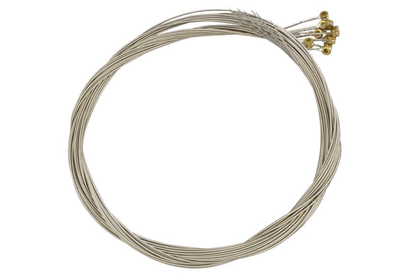Folkcraft® Stainless Steel Wound Strings, Ball Ends, Pack Of Twelve, .036-Folkcraft Instruments