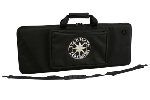 "Folkcraft® Travel Dulcimer Carrying Case, Embroidered With ""FolkRoots® Dulcimers"" Logo-Folkcraft Instruments Dulcimer Case Bag"