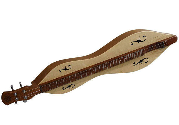 FolkRoots® D Series Dulcimer, Honduras Mahogany Body, Maple Top, Serial Number 90422194-Folkcraft Instruments