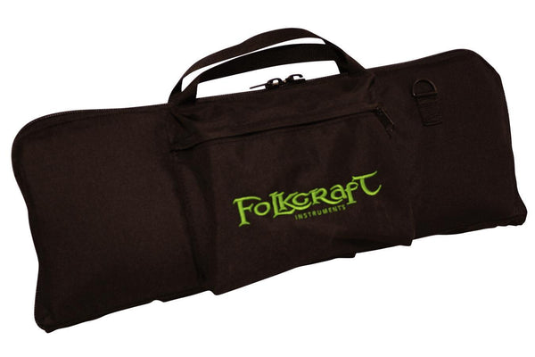 "Tin Whistle/Native American Flute Carrying Case, Embroidered With ""Folkcraft® Instruments"" Logo-Folkcraft Instruments Dulcimer Case Bag"