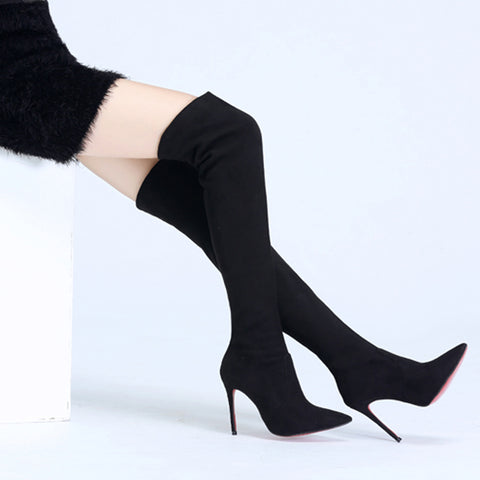 Winter Over the Knee high boots Pointed toe