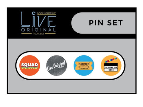 Live Original Tour Pin Pack