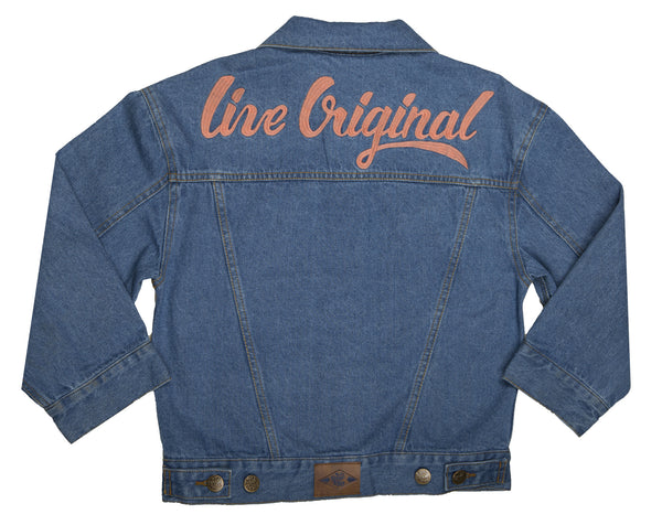 Wild Blue Crop Denim Trucker Jacket