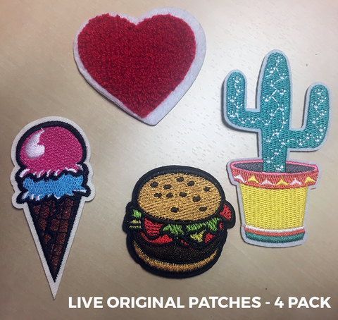 Live Original Patches - 4 Pack