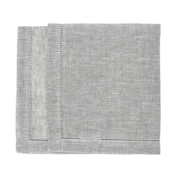 linen napkin grey hemstitch