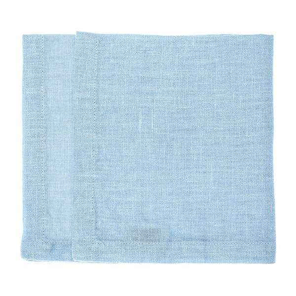 linen napkin stonewashed light blue