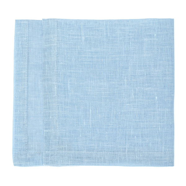 linen napkin light blue